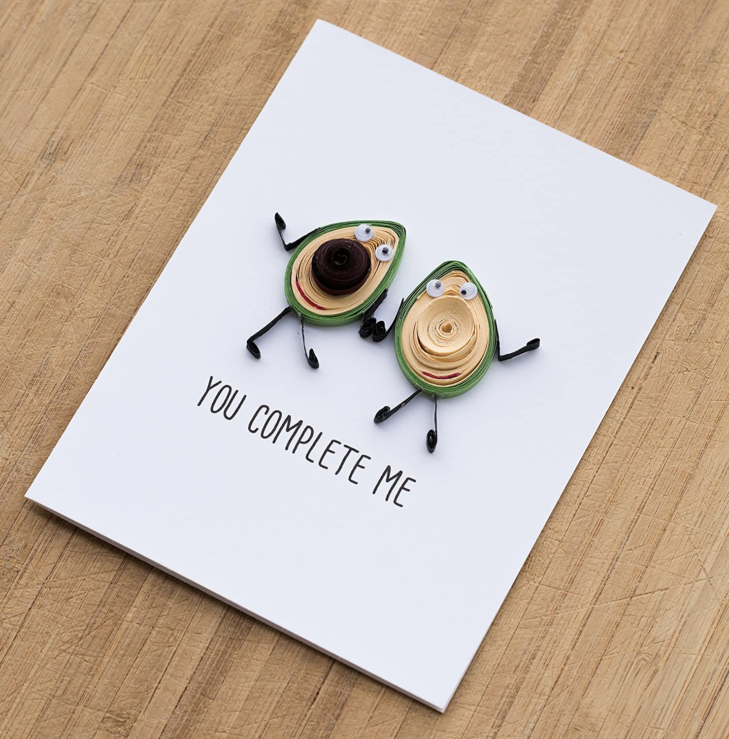 Anniversary Card for your Husband Girlfriend Love Card You Complete Me Boyfriend Wife