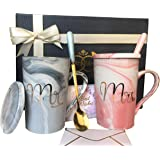 Mr and Mrs Mugs Set - Wedding Gifts for Couple, Engagement Bridal Shower Gift | Unique Anniversary Married Couple Gift - Grea