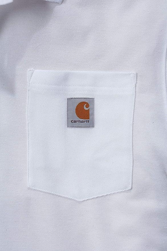 Carhartt Mens Short Sleeve Rib Knit Button Work Pocket Polo Shirt ...