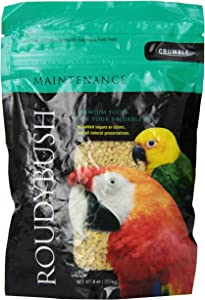 RoudyBush Daily Maintenance Bird Food, Crumbles, 8-Ounce