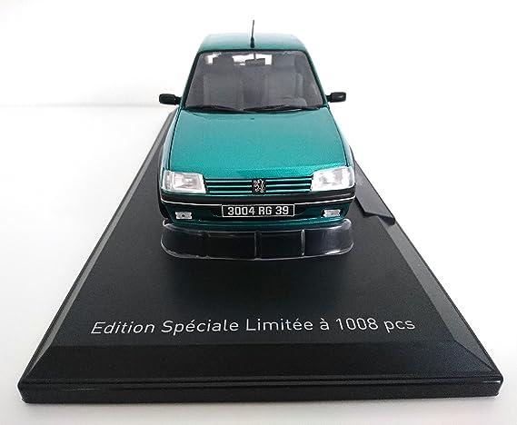 Véhicule Miniature - Peugeot 205 GTI Griffe 1.9L 1990 - Vert - Echelle 1:18 NOREV - Exclusivité Internet: Amazon.es: Juguetes y juegos