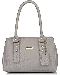 899e81720b Fostelo Princess Diana Women s Handbag (Grey)  Amazon.in  Shoes ...