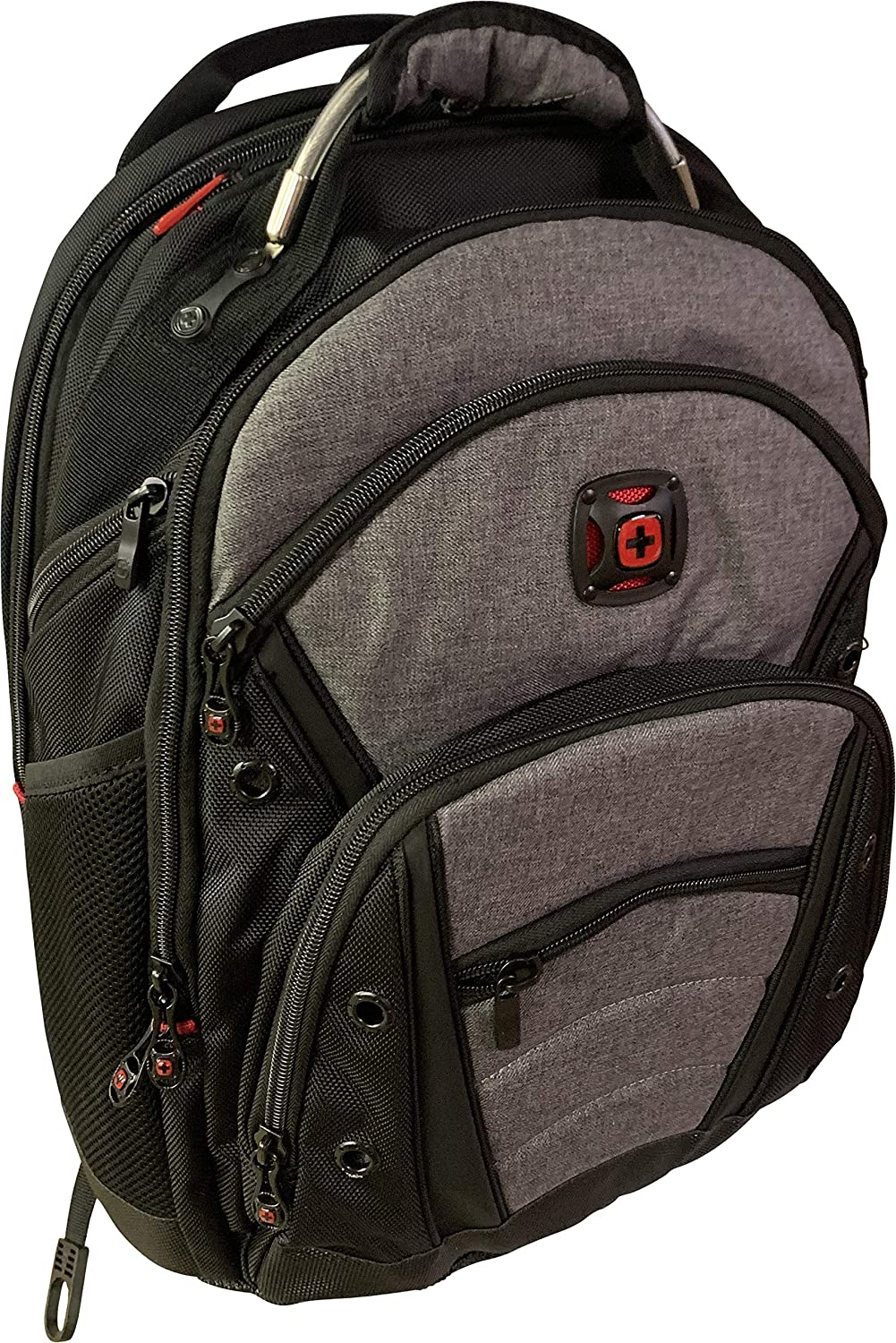 """Wenger Synergy Backpack with 16"""" Laptop Pocket, Black/Heather Gray"""