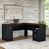 Bush Furniture Fairview L Shaped Desk in Antique