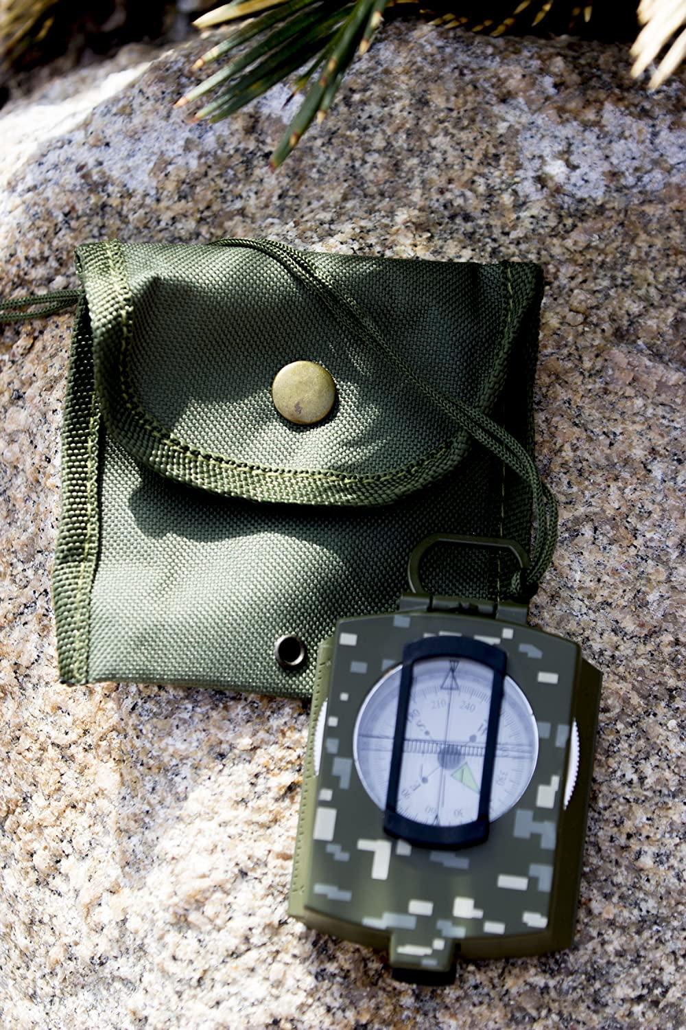 Under Control Tactical Best Sighting Compass for Camping Military Grade Survival /& Mapping Gear