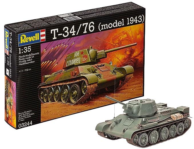 revell 1 35  : Revell Germany 1/35 T-34/76 1943 Model Kit: Toys & Games