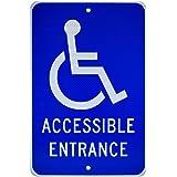 amazon com ada handicap accessible entrance signs with left arrow
