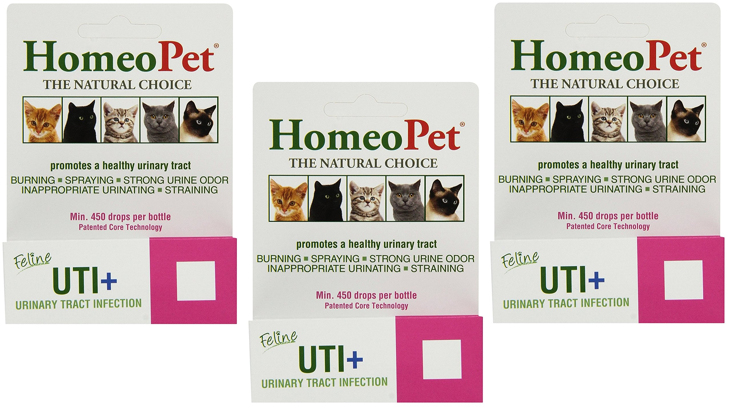 HomeoPet UTI Plus Urinary Tract Infection for Cats (Pack of 3) by HomeoPet