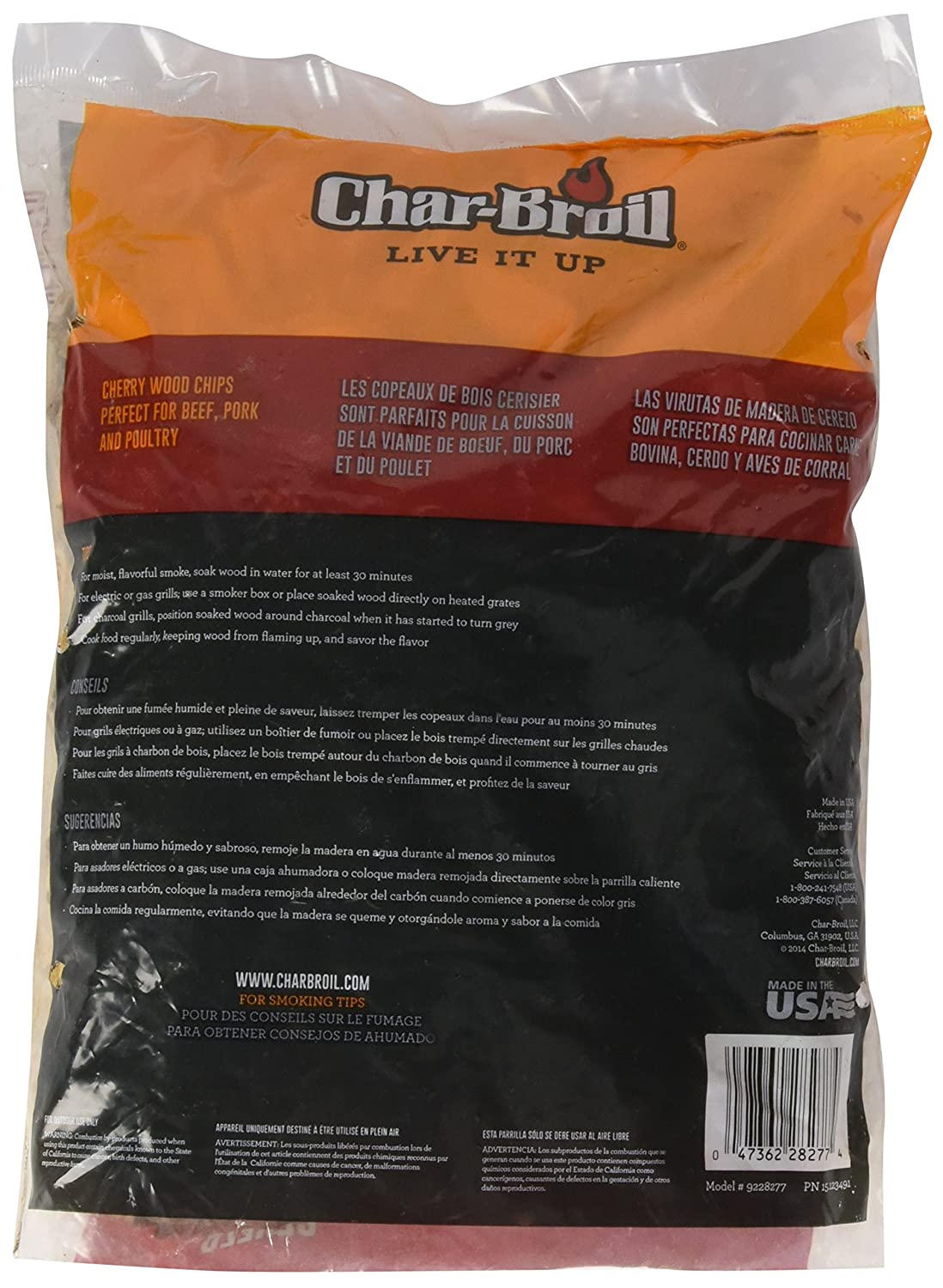Char-Broil Mesquite Wood Smoker Chips, 2-Pound Bag
