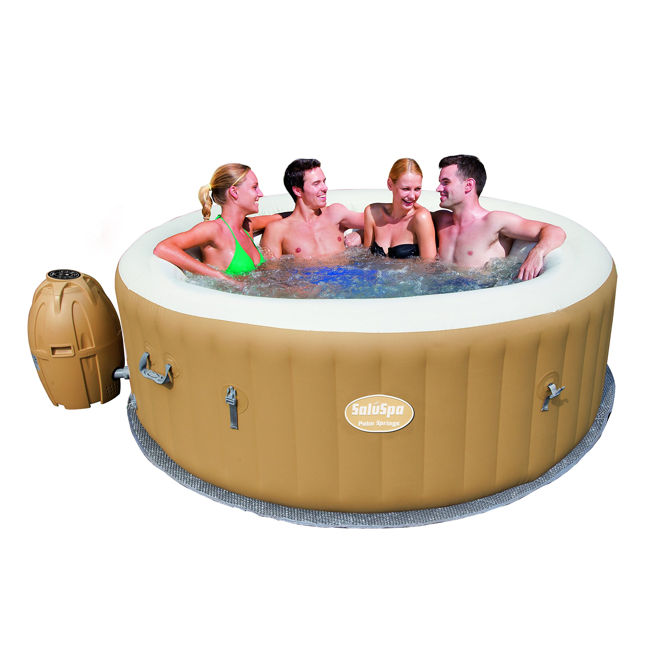 Lay-Z-Spa Palm Springs Air Jet Portable Inflatable Hot Tub Spa - For ...
