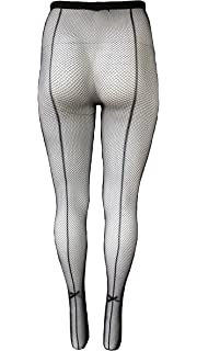 New Music Legs 920Q Plus Size Fishnet Pantyhose With Backseam