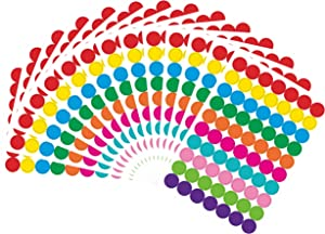1050 PCS Color Coding Labels Circle Dot Stickers,10 Color Style Colorful Coding Label Sticker for Office,Student Classroom