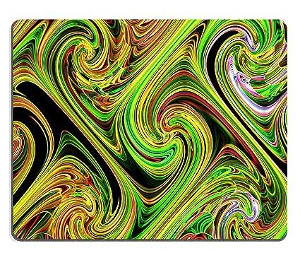 MSD Mousepad imagen 27691184 arte moderno y salvapantallas fondo de color naranja y verde curvas,