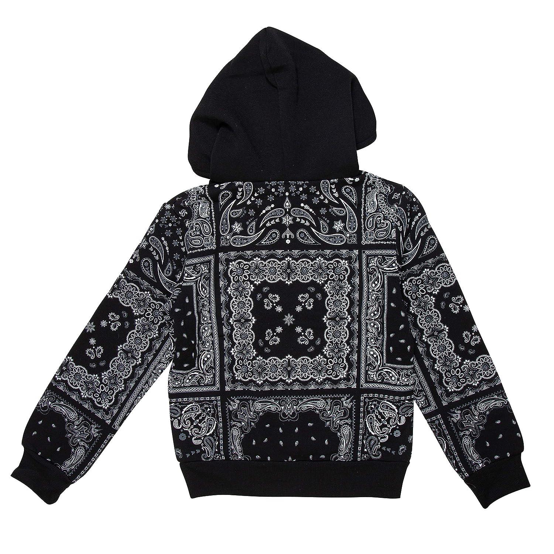 9a4367c480 PLAYROOM Unisex Paisley Bandana Print Pullover Hooded Sweatshirt