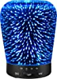 Aromatherapy Oil Diffuser, SZTROKIA 180ml Essential Oil Ultrasonic Cool Mist Humidifier with 3D 24 Color Changing Starburst LED lights