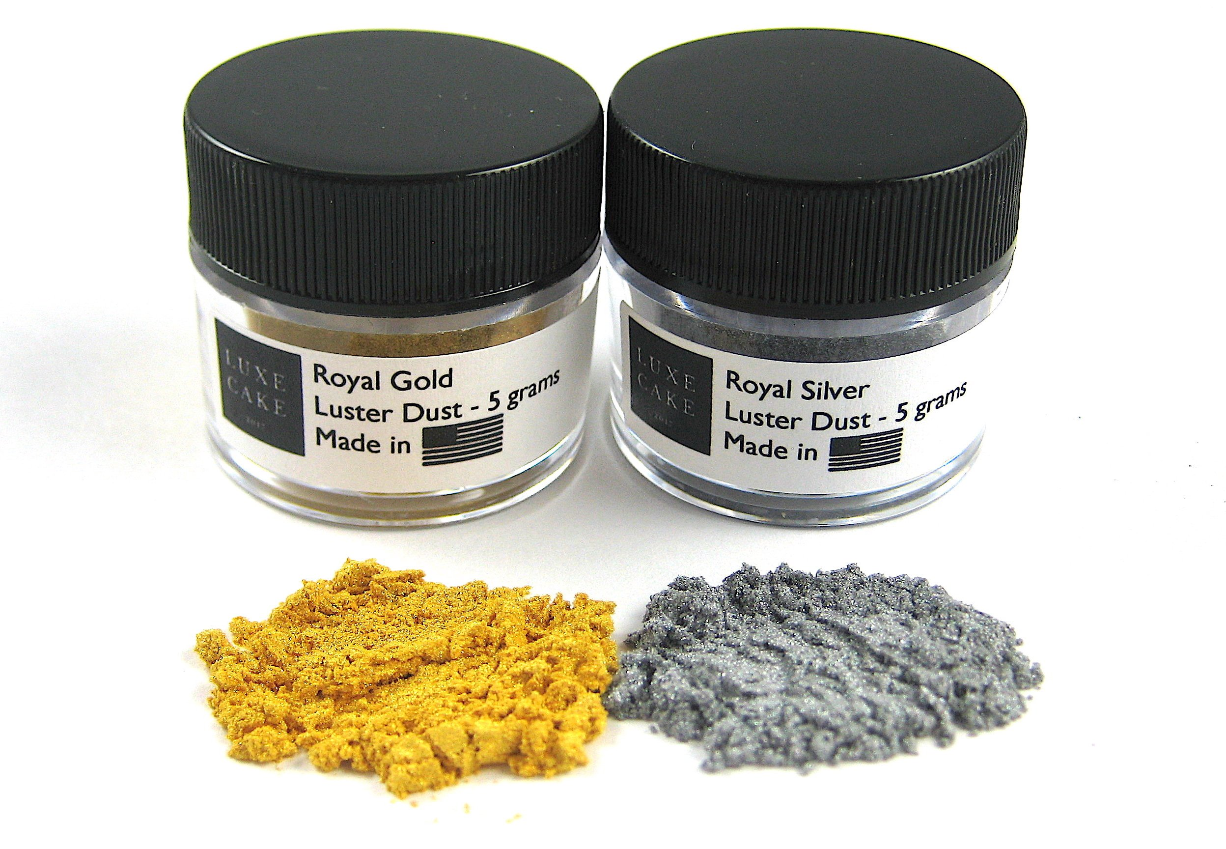Royal Set (Gold & Silver) Luxury Cake Dust, 10 grams total, USA Made