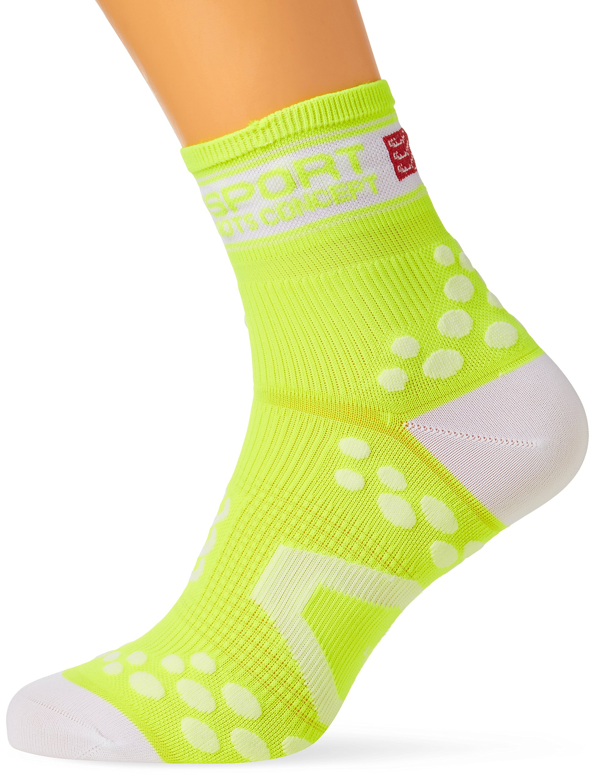 Compressport Pro Racing V2 Run Hi Calcetines, Unisex Adulto, Amarillo/Blanco, 37