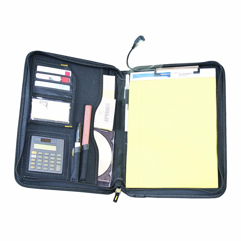 DEWALT DG5142 Pro Contractor's Business Portfolio with Flex-Light, Built-In Calculator, Full Zipper Enclosure