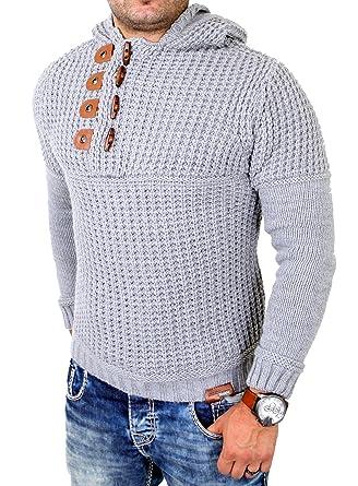am besten bewertet neuesten das billigste Neueste Mode Tazzio Strickpullover Herren Grobstrick Winter Kapuzen ...