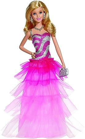 Barbie , Bfw18 , Poupée Mannequin , Robe Du Soir Tule , Rose