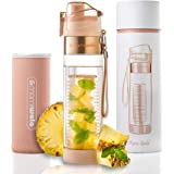 MAMI WATA Fruit Infuser Water Bottle – Beautiful Gift Box – Unique Stylish Design - Free Fruit Infused Water Recipes…