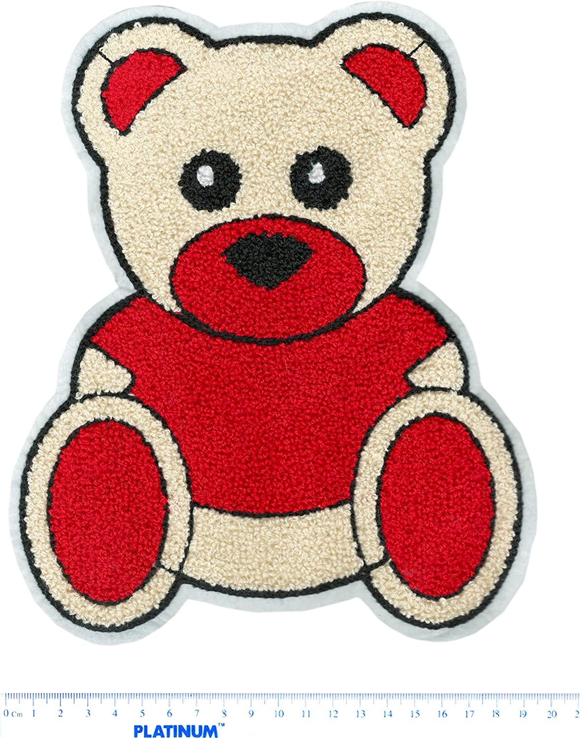 fashion towel embroidered bear patch DIY jacket shirt dress handbag patch Large color chenille bear patch
