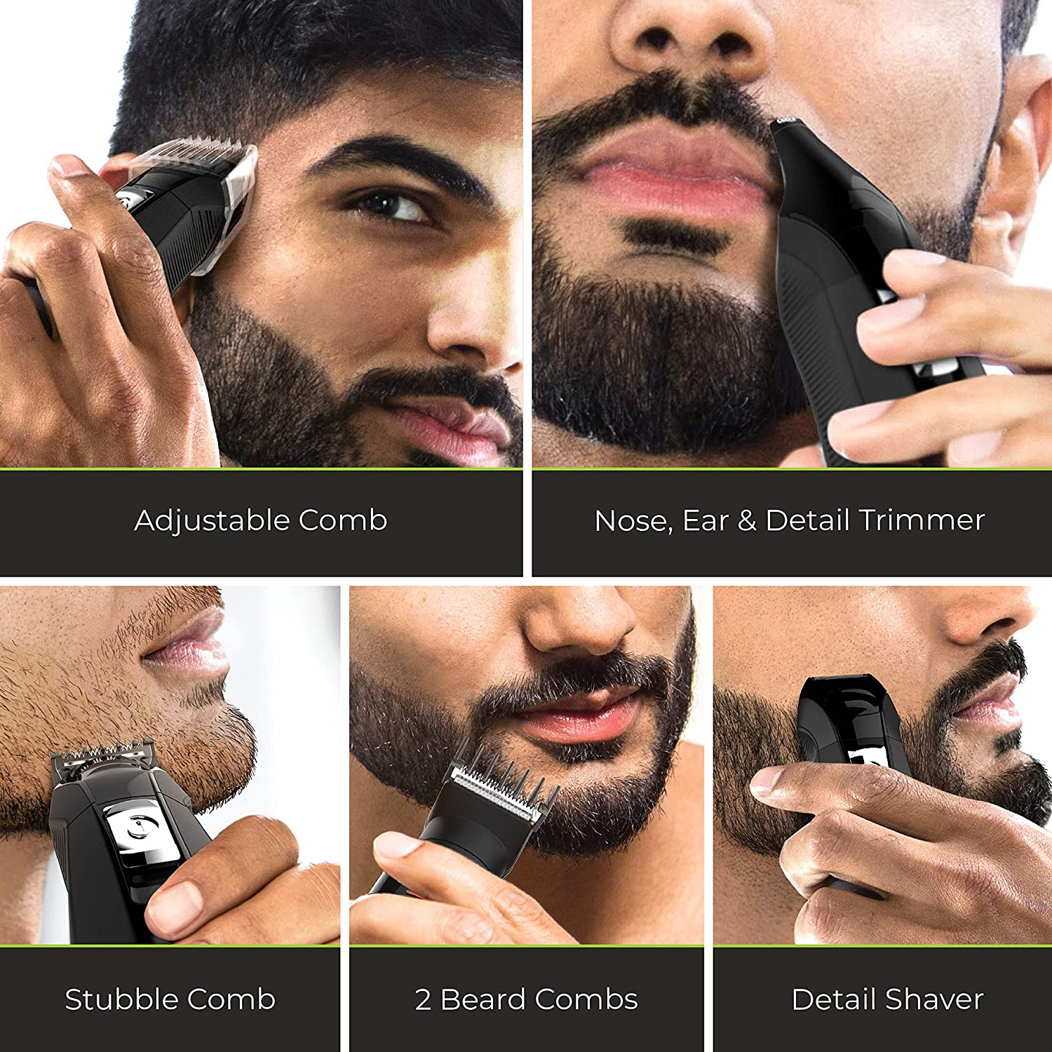All-in-1 Lithium Powered Grooming Kit, Beard Trimmer (8 Pieces)