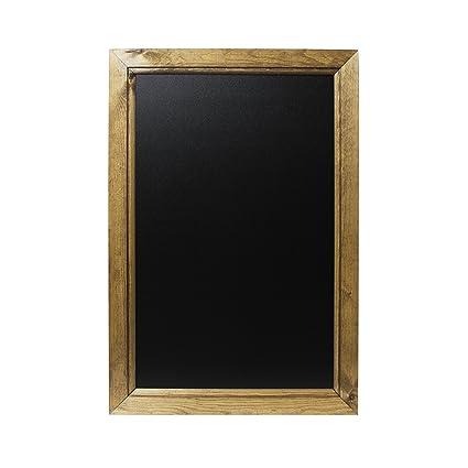 Chalkboards UK - Pizarra enmarcadas con Madera de Roble Oscuro, Madera, Color Negro, Madera, Roble Oscuro, A2 (62.4 x 45 x 1.5cm)