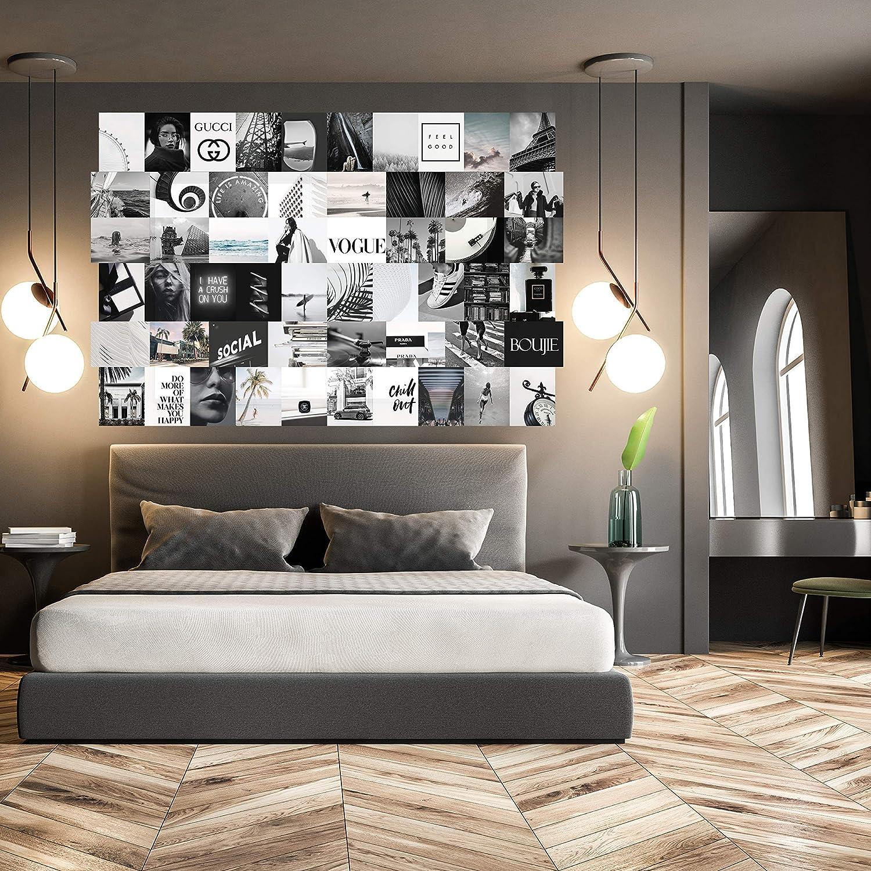 Amazon Com Vsco Black And White Collage Kit 8 5x11 54 Set Teen Girl Wall Decor Tumblr Art Print Handmade