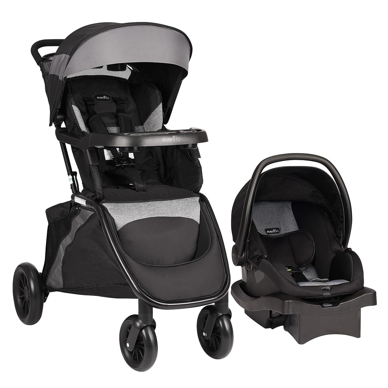 Evenflo Advanced SensorSafe Epic Travel System with LiteMax Infant Car Seat, Jet