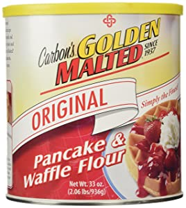 Golden Malted Waffle and Pancake Flour, Original, 33-Ounce Can