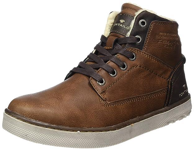 TOM TAILOR Herren 3780402 Hohe Sneaker, Schwarz (Black), 42 EU