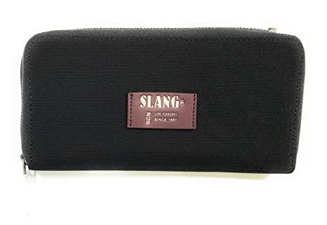 Billetero Slang Vam4 (Negro y burdeos) 20x10x2 cm: Amazon.es ...