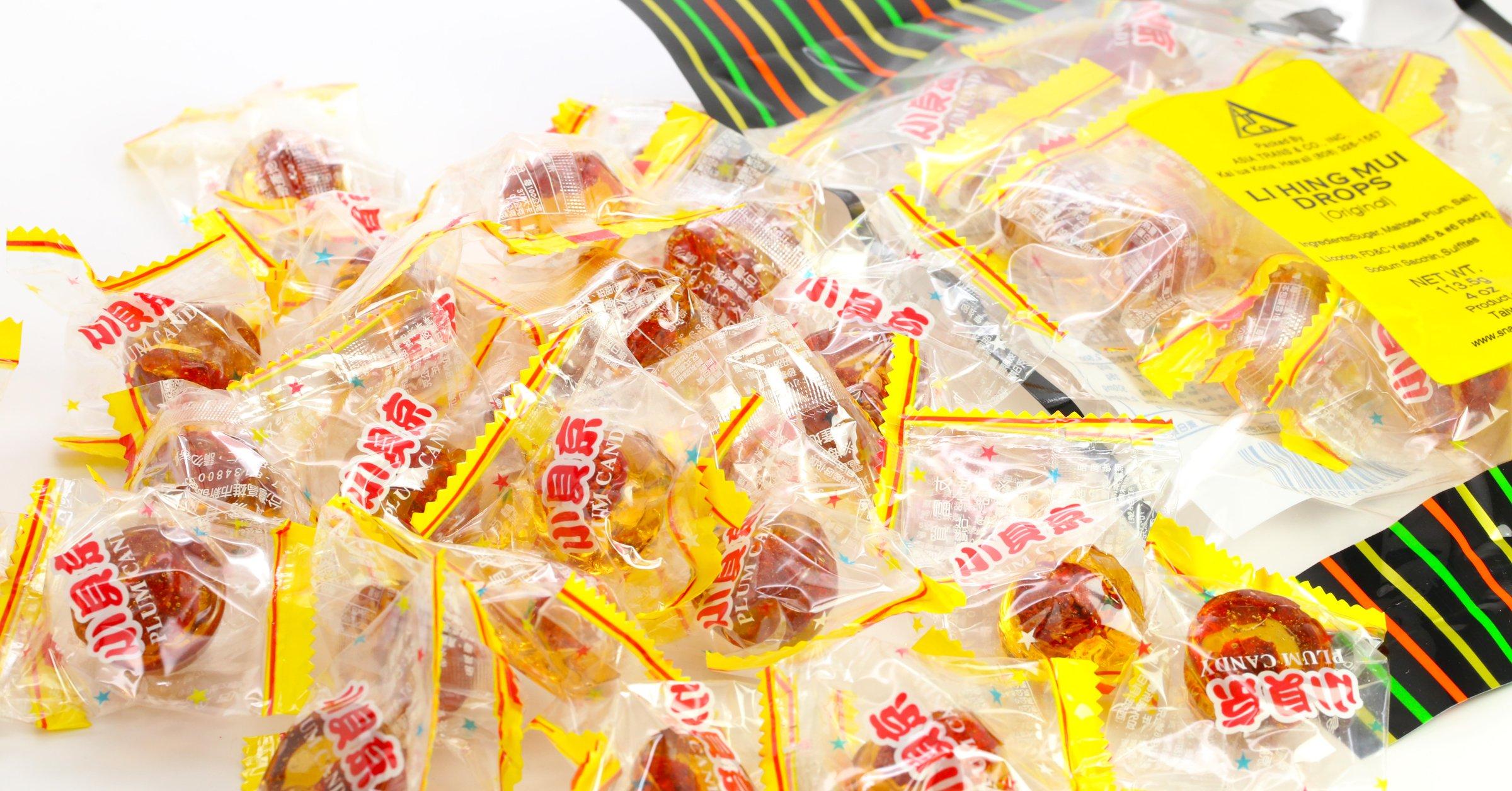 Li Hing Mui Drops (Golden Plum) (3 POUNDS)