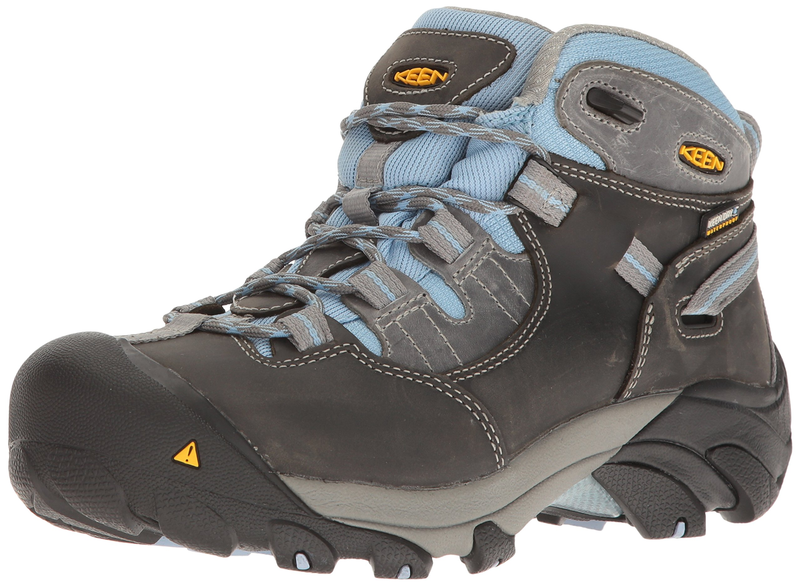 KEEN Utility Women's Detroit Mid Soft Toe Industrial and Construction Shoe, Magnet/Blue Bell, 10 W US