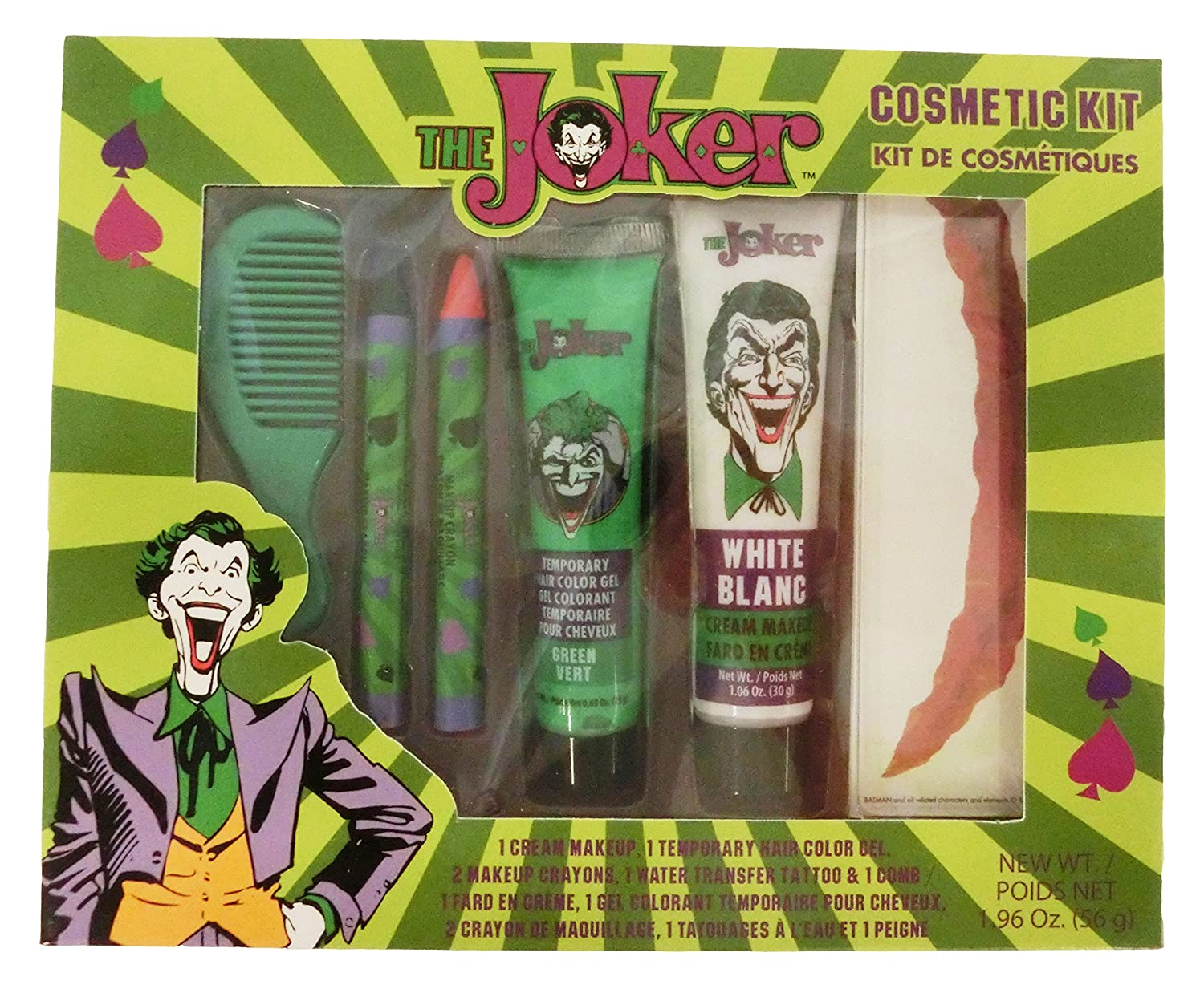 GBG Beauty The Joker Classic Costume Makeuo Cosmetic Kit