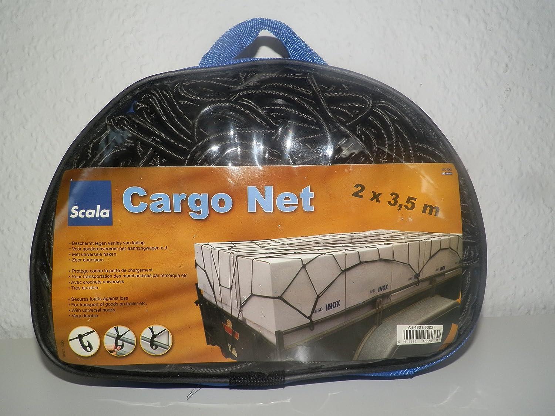 Autoanh/ängernetz mit /Ösen 2 x 3,5m Cargo Net H/ängernetz Anh/ängernetz Schutznetz Ladungssicherungsnetz Transportnetz Transportsicherungsnetz komplett gummiert daher sehr dehnbar