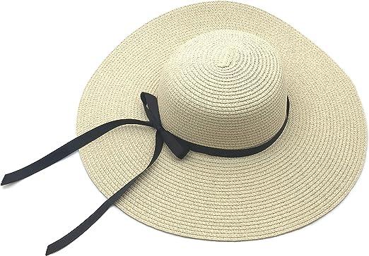 Sonnenschutz mit breiter Krempe Sonnenh/üte Maylisacc faltbare Stroh-Sonnenblenden f/ür Damen verstellbarer Strandhut