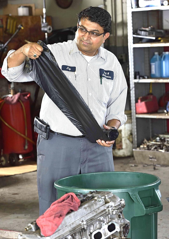39 Length x 33 Width 39 Length x 33 Width Pack of 100 33 Gallon Capacity H Strength Black Aluf Plastics RL-3339H T-Tough Roll pack Low Density Repro Blend Star Seal Coreless Rolls Bag