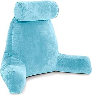 c84213eec205 Husband Pillow - Carolina Blue, Big Reading   Bed Rest Pillow with Arms -  Sitting