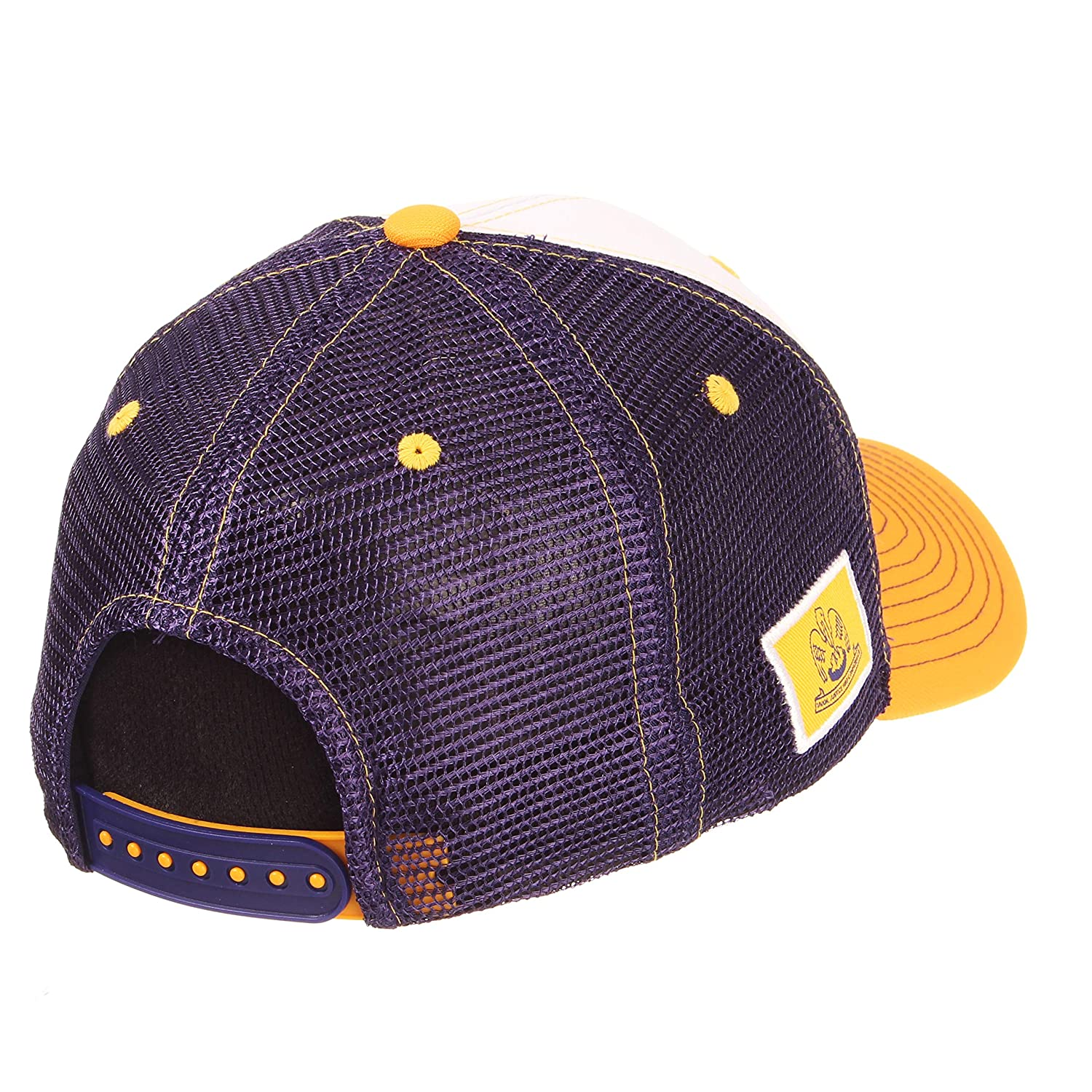 NCAA Zephyr LSU Tigers Mens Threepeat Relaxed Hat White//Team Color Adjustable