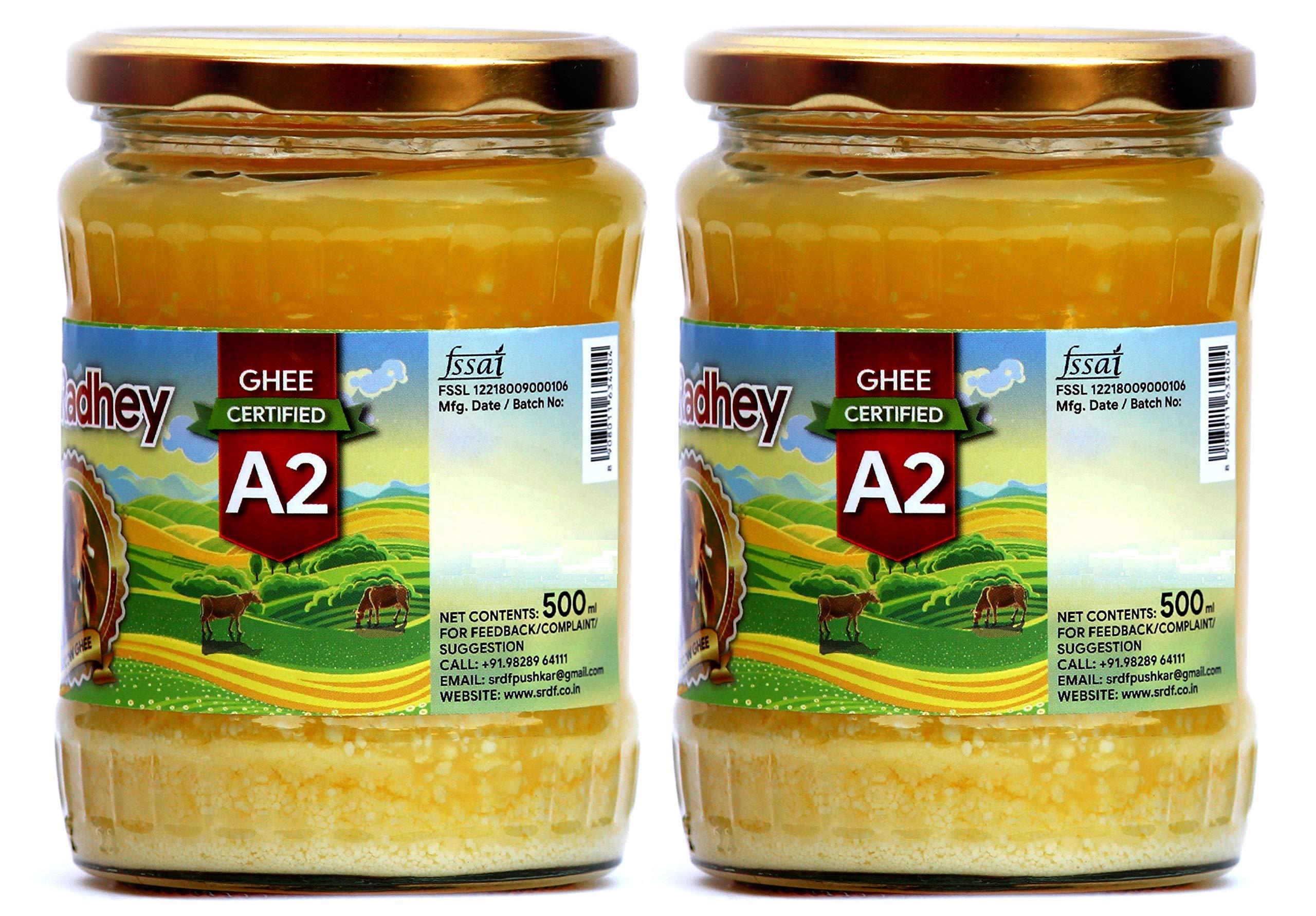Shree Radhey Certified A2 Gir Cow Ghee - Gluten Free - (Traditionaly Hand Churned) (500 ml X 2) by Shree Radhey (Image #3)