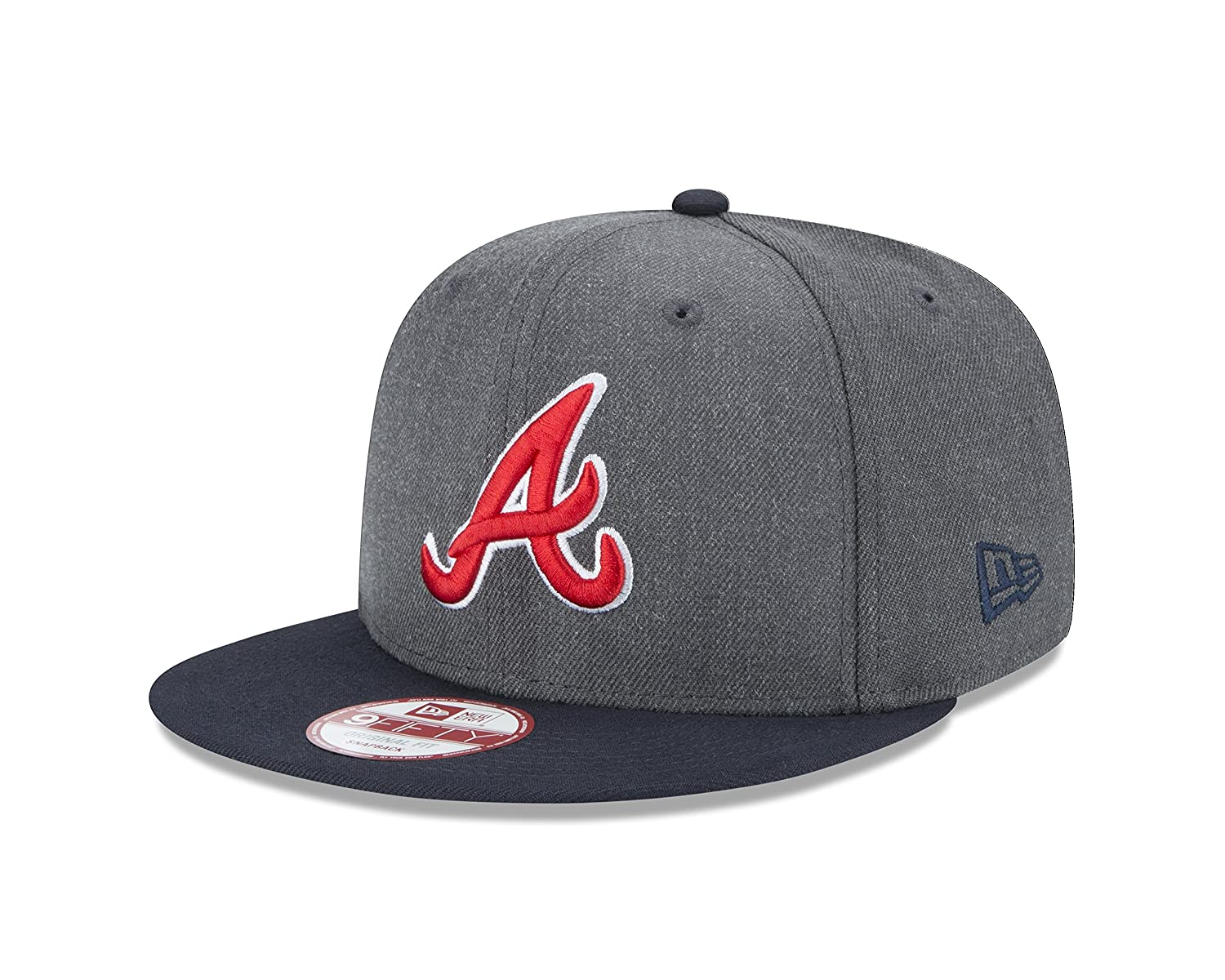 92f6865e206 Amazon.com   New Era MLB Atlanta Braves Heather 9Fifty Snapback Cap ...