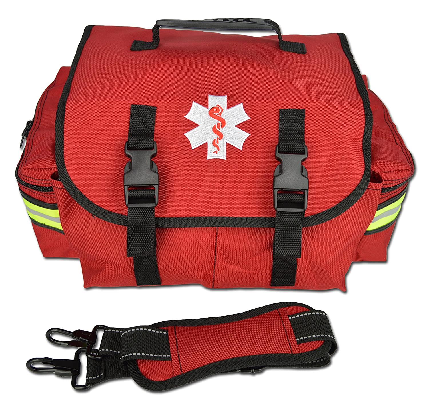 Lightning X Small EMT First Responder Bag w/ Dividers - FLORESCENT ORANGE Lightning X Products Inc