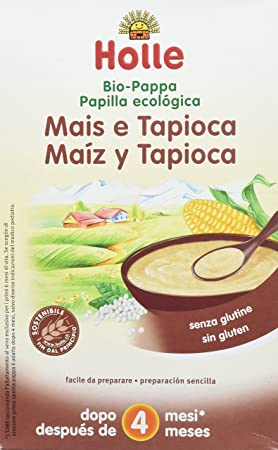 Holle Papilla de Maíz y Tapioca (+ 4 meses) - 6 Paquetes de 1 x 250 gr - Total: 1500 gr