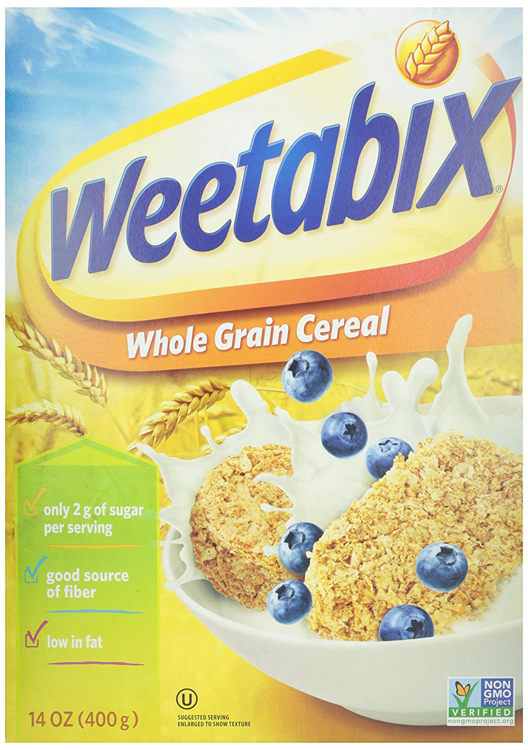 Weetabix Whole Grain Cereal Biscuits, Non-GMO Project Verified, Heart Healthy, Kosher, Vegan, 14 Oz Box