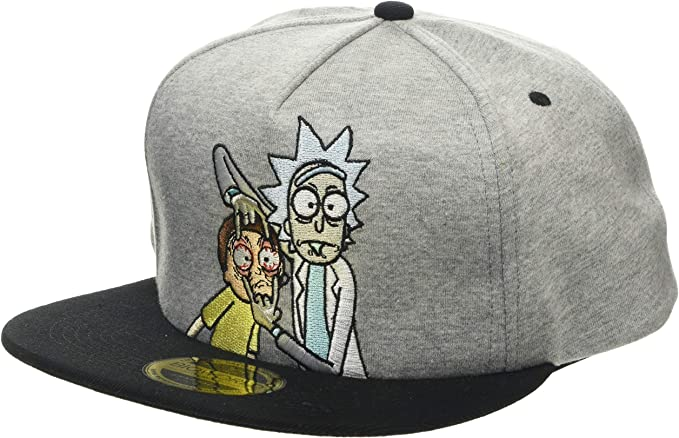 Rick And Morty Open Your Eyes Snapback Grey