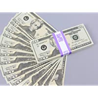 PROP MONEY Real Looking Copy New Style $20s FULL PRINT Stack - Total $2,000 for Movie, TV, Videos, Advertising & Novelty