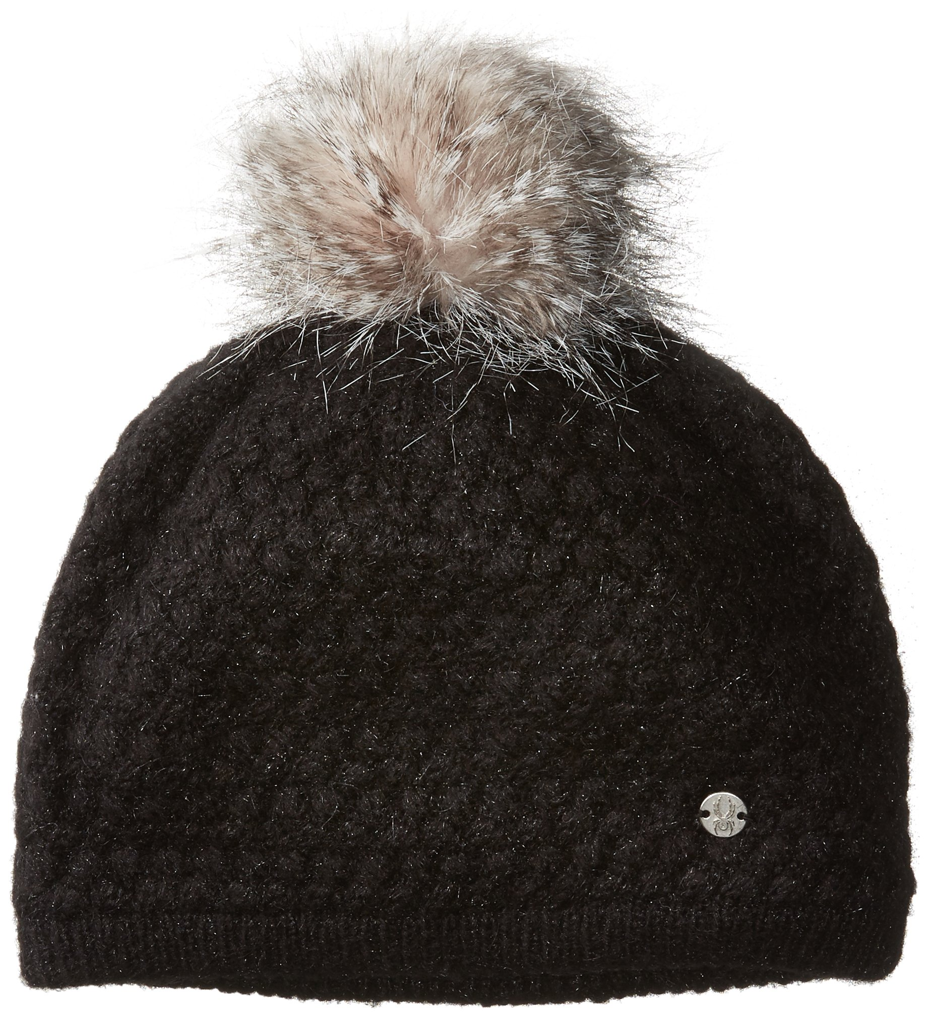 Spyder Women's Icicle Hat, Black/Silver, One Size