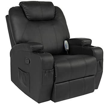 Best Choice Products Executive Faux Leather Swivel Electric Massage Recliner Chair